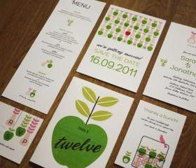 Apple And Pear Orchard Farm – Wedding Stationery Set (PRINTABLE) – Set Of 6