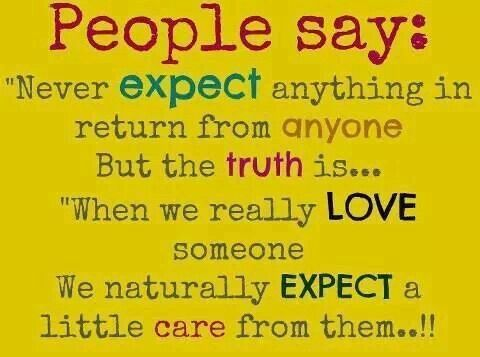 Expect caring