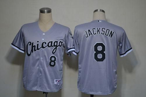 white sox 8 bo jackson grey embroidered mlb jersey21.50usd