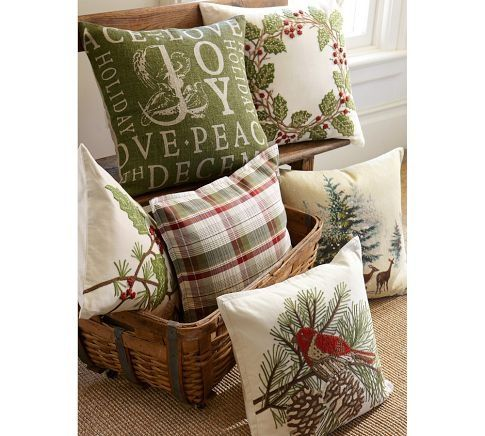 Pottery Barn Inspired Holly Berry Wreath Pillow Don T Disturb This