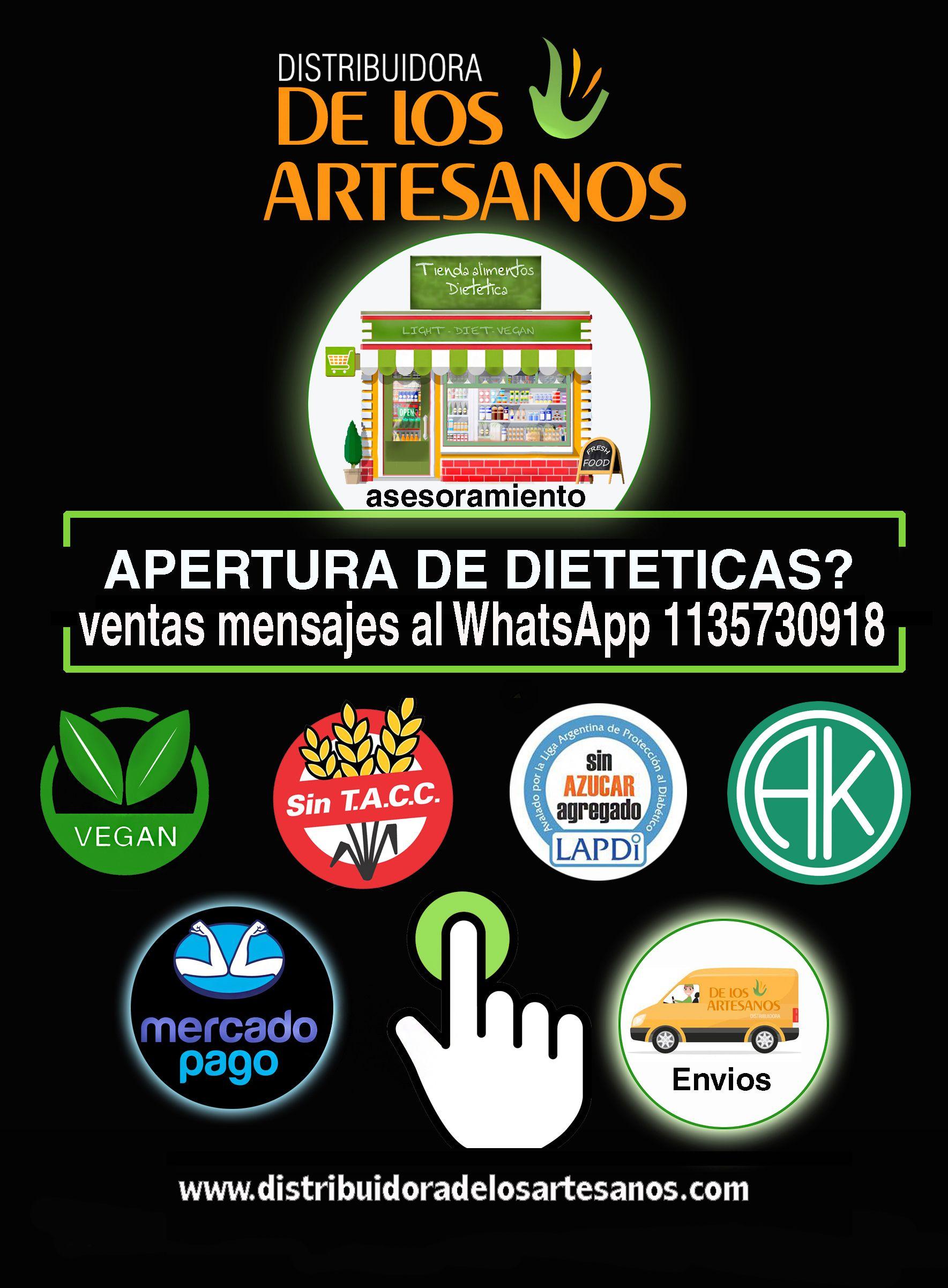 Distribuidora De Los Artesanos Apertura De Dietetica Todo Al Por Mayor Envios A Todo El País En 2020 Mayorista Y Minorista Artesanos Distribuidor