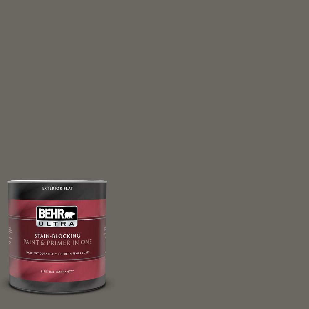 Behr Ultra 1 Qt Ppu24 03 Chinchilla Flat Exterior Paint And Primer In One 485304 The Home Depot Behr Ultra Interior Paint Exterior Paint