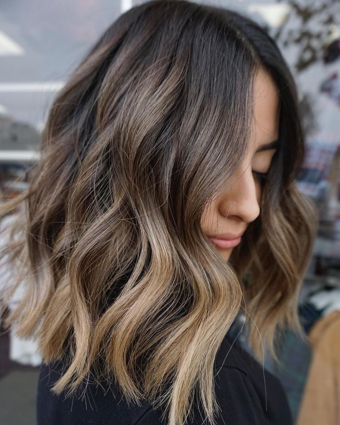 """Balayageombre®💕 on Instagram: """"Amazing color for winter ❄️ I will suggest this to all girls and amazing hair cut LOB…"""""""