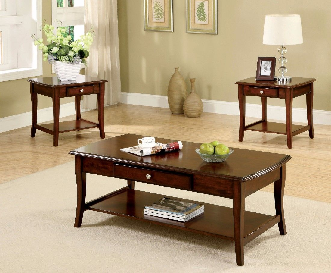 Furniture Of America Shaun Transitional Open Shelf 3 Piece Coffee End Table Set In Dark Oak Eni End Tables With Drawers Living Room Table Sets Coffee Table [ 906 x 1100 Pixel ]