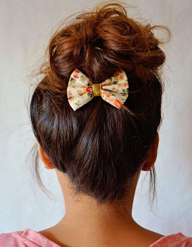 Le chignon mignon coiffures faciles pinterest chignons hair
