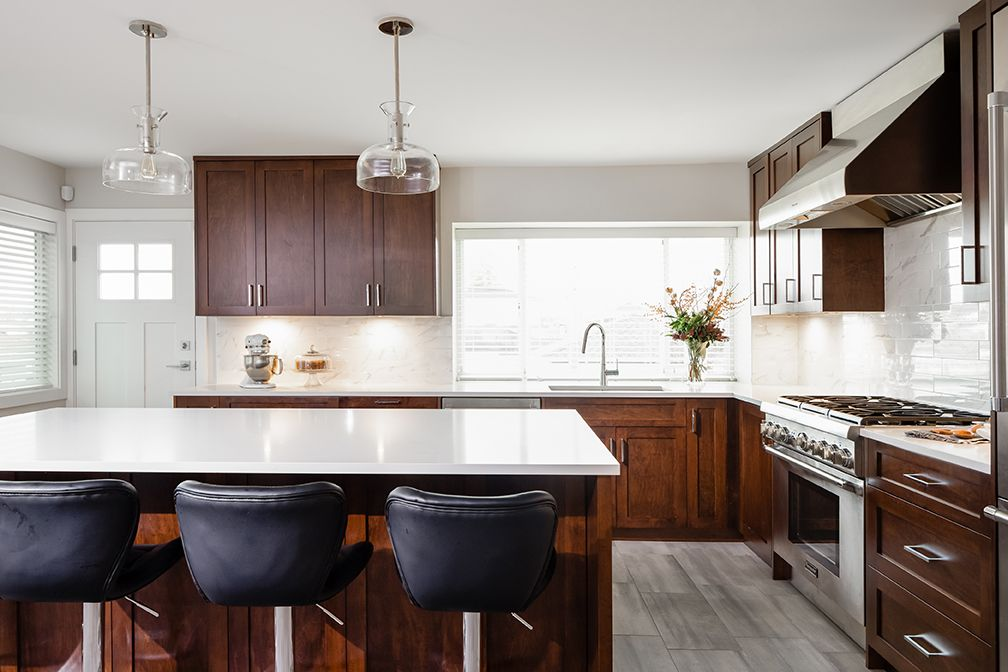 Alair Homes East 46th Renovation 1860 Sqft 6 Months This Mid Century Modern Home Has Been Completely U Kitchen Renovation Custom Kitchen Custom Homes