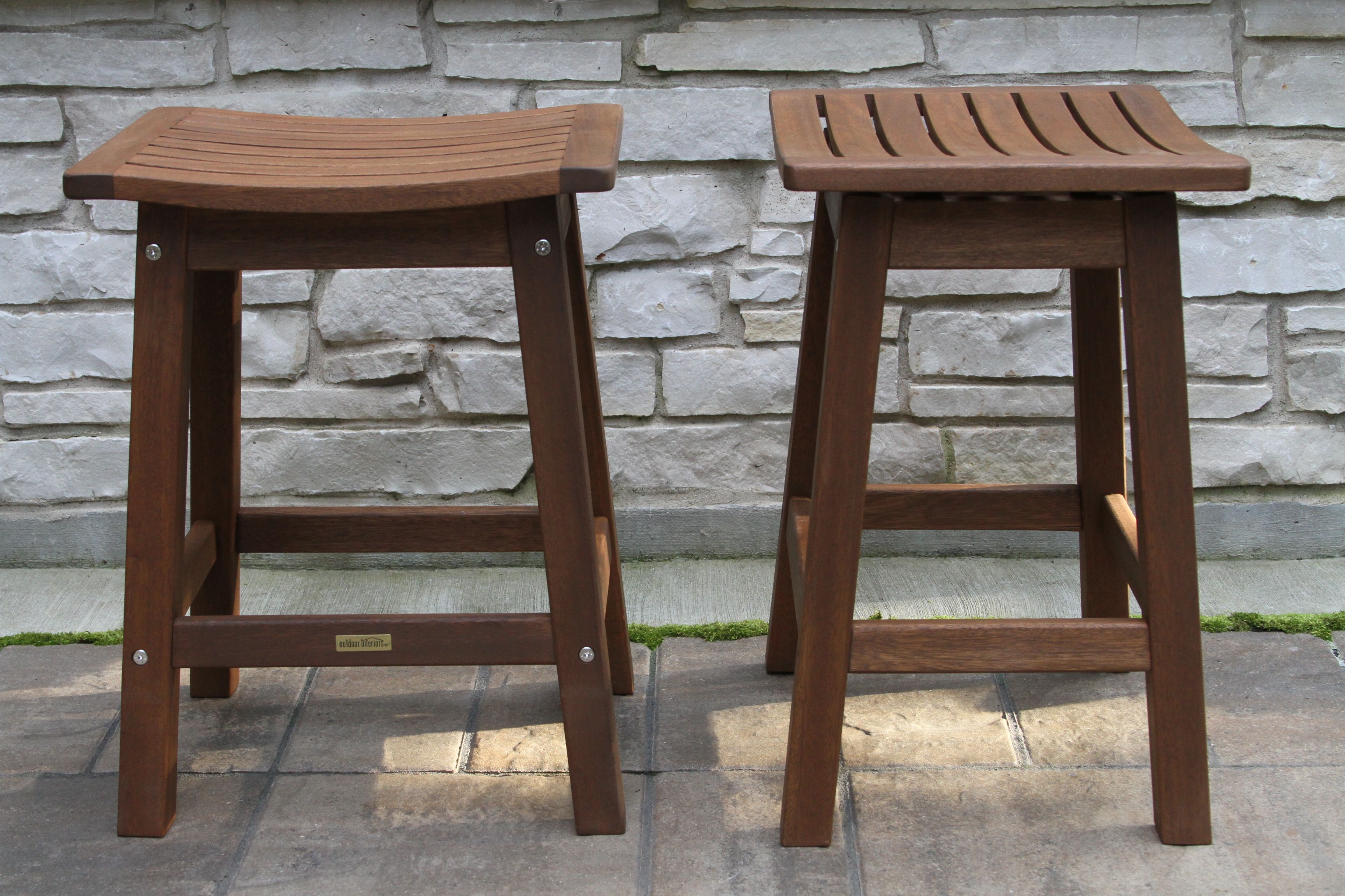 Pleasing Counter Height Eucalyptus Stools Outdoor Interiors Pdpeps Interior Chair Design Pdpepsorg
