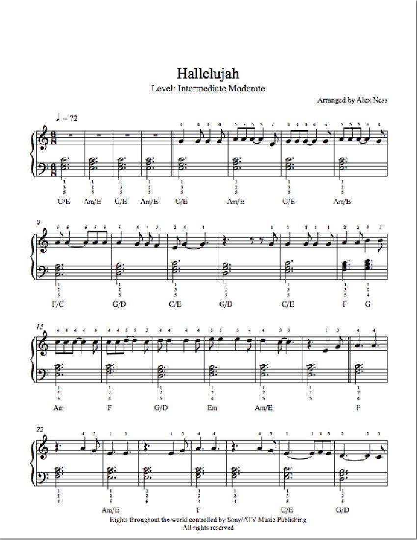 The final countdown by europe music pinterest finals hallelujah by rufus wainwright piano sheet music intermediate level hexwebz Gallery
