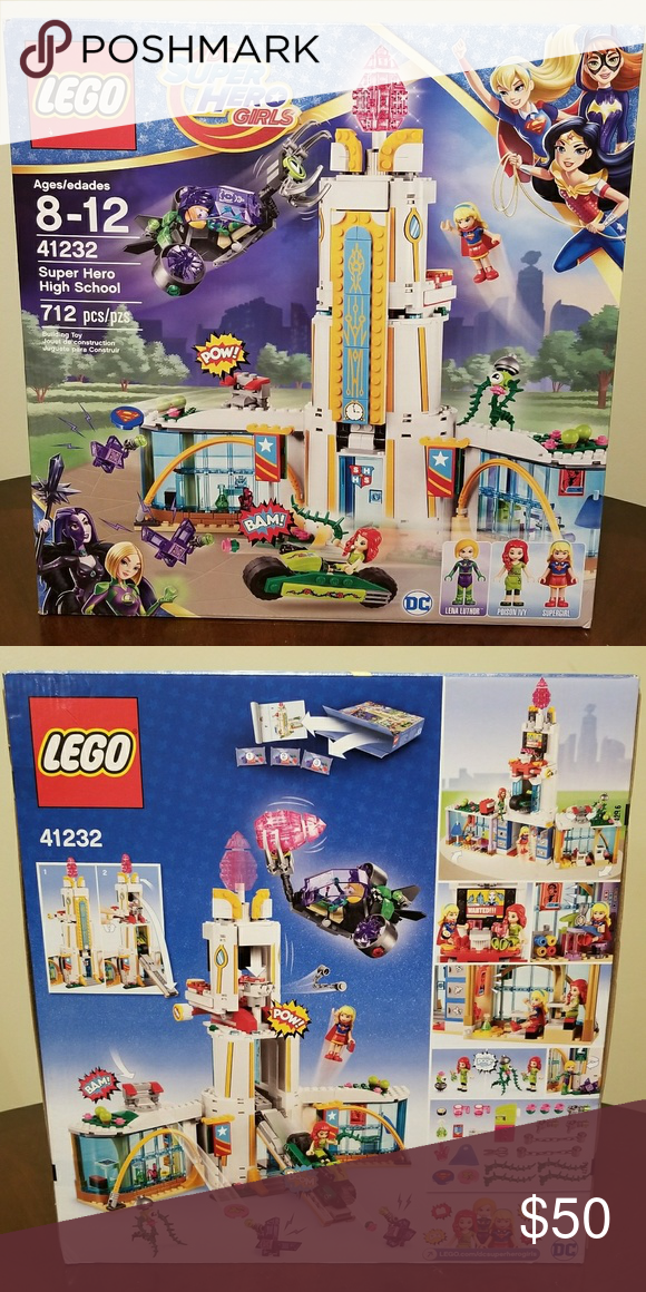 New and Sealed LEGO DC Super Hero Girls 41232 Super Heroes High School