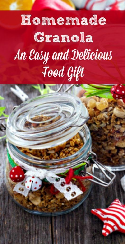 homemade granola is the perfect christmas food gift its is easy to make and package people love to receive it and its healthy