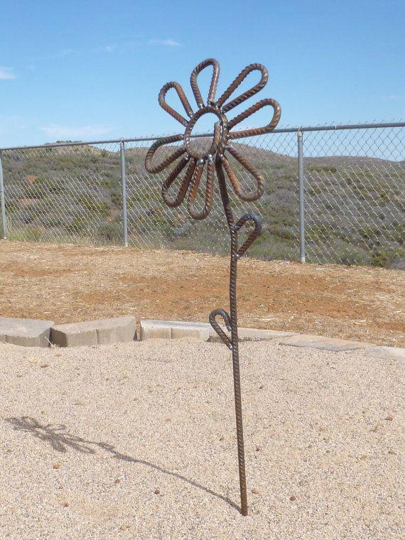 Daisy Flower Made From Rebar Sheet Metal Art Metal Art