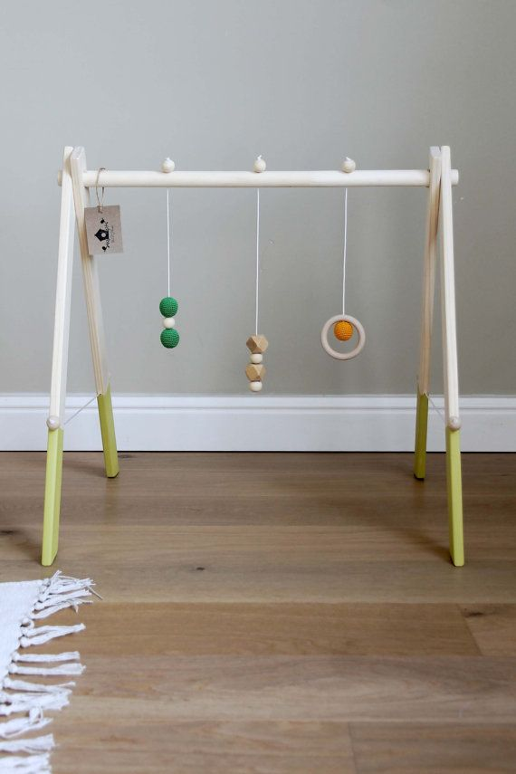 Wooden baby gym by mrhomeLT on Etsy