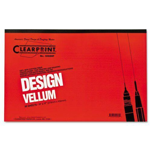 Clearprint Design Vellum Paper 16lb White 11 X 17 50 Sheets Pad 10001416 Dmi Pd Vellum Paper Paper Pads Vellum