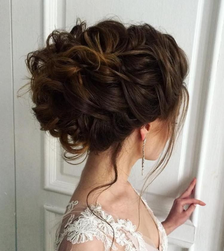 Curly Updo For Thick Hair Thick Hair Styles Hair Styles Vintage Wedding Hair