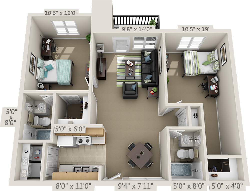 Floor Plans College Park Apartments Open Floor Plan Apartments Apartment Floor Plan Sims House Design