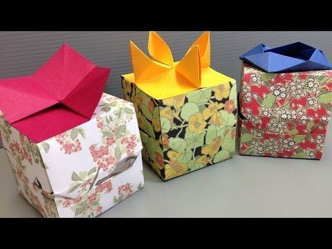 How to make beautiful origami flower gift boxes youtube origami how to make beautiful origami flower gift boxes youtube mightylinksfo