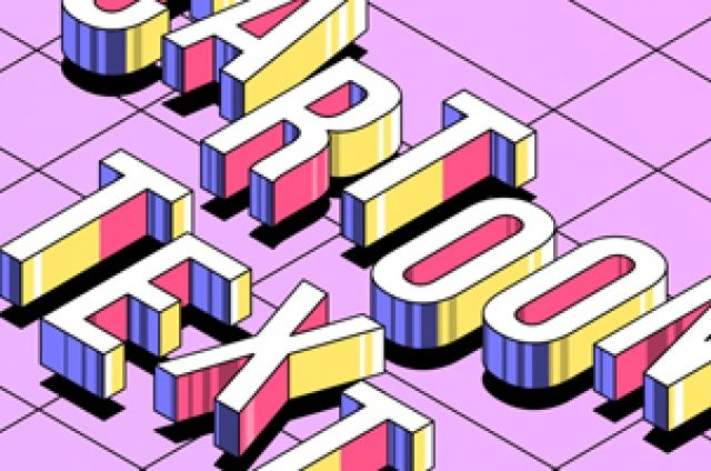 This is a perspective vector collection of cartoon letters to let you create a modern 3D text effect. Easily mix them...