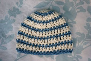 Free Pattern: Thick and Thin Striped Beanie - several sizes starting with newborn