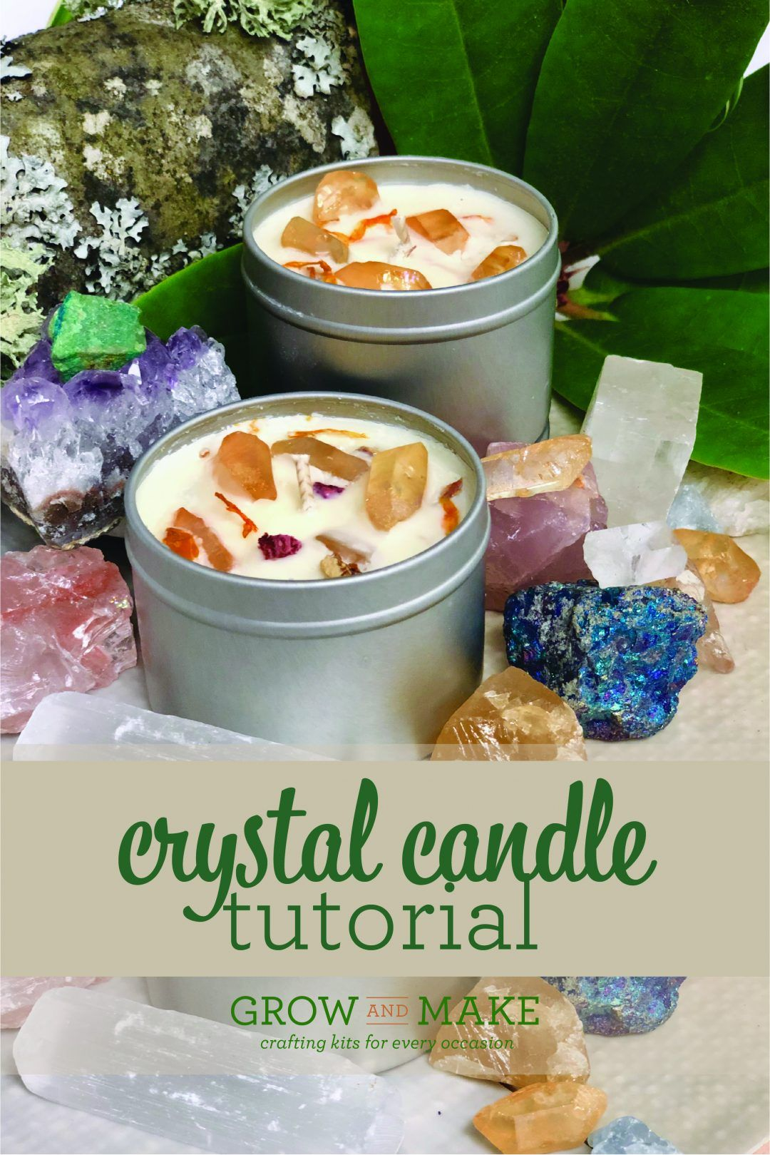 Crystal Soy Candle Tutorial Diy crystals, Candle making