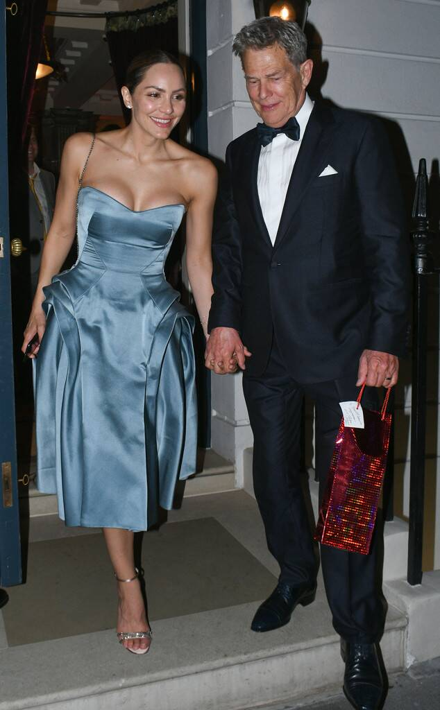 Katharine Mcphee Steps Out In Glamorous Blue Dress At Wedding Receptio In 2020 Blue Dresses Katharine Mcphee Strapless Dress Formal