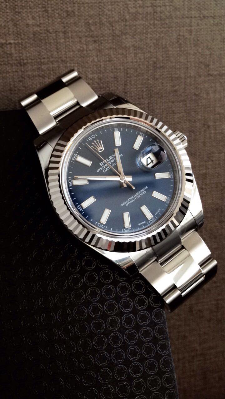 ce83021534a Rolex DateJust II Aço e Ouro Branco 116334