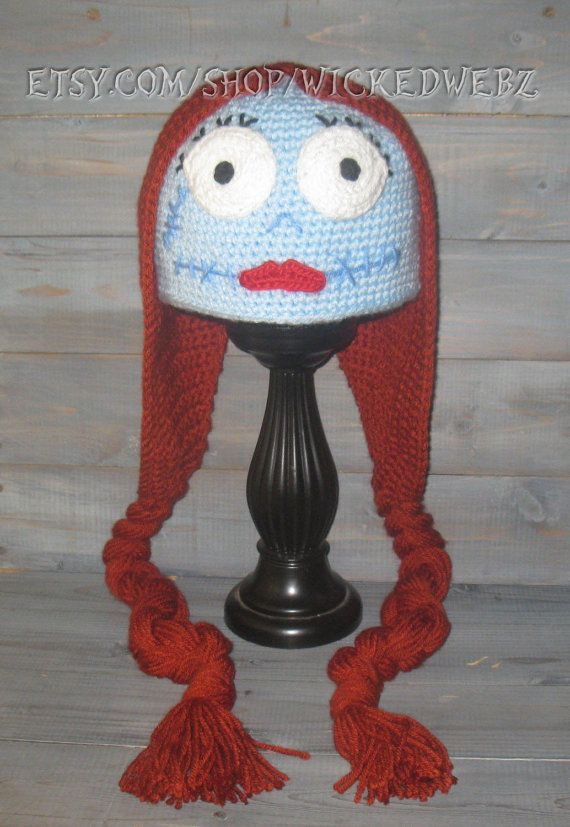 Adult Sally Nightmare Before Christmas crochet hat by WICKEDWEBZ ...