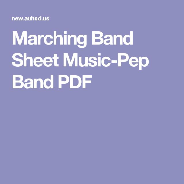 Marching Band Sheet Music-Pep Band PDF | Music | Music, Sheet music