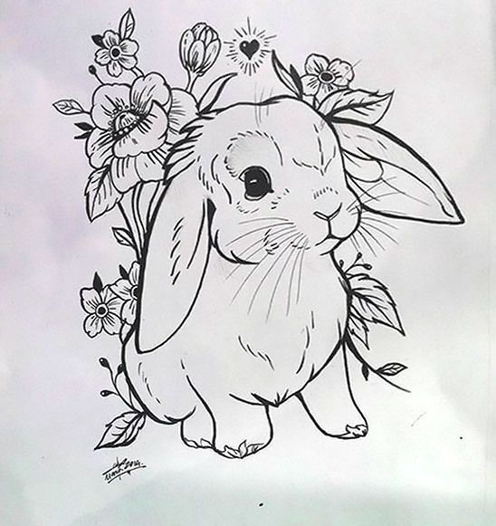 Photo of A cute tattoo design of a little rabbit on the skin of the ….  #tattoedgirl – tattoed girl