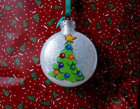 Handmade Glass Glitter Christmas Ornament Everything is inside, my design & the glitter.  We will personalize it for you at no extra charge.