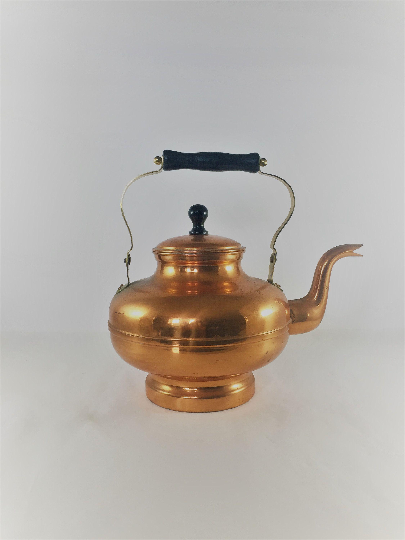 Copper Tea Kettle Vintage Copper Tea Kettle Decorative Large Copper