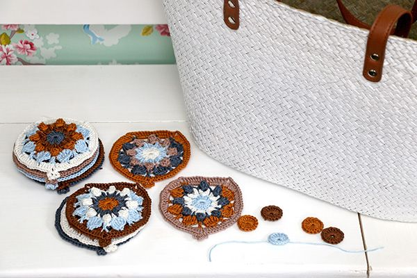 Herinneringskussen patchwork crochet haken