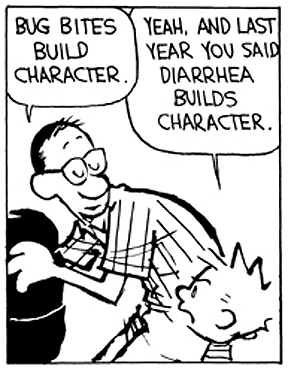 Hobbes Deep - character building | Calvin and hobbes comics ...