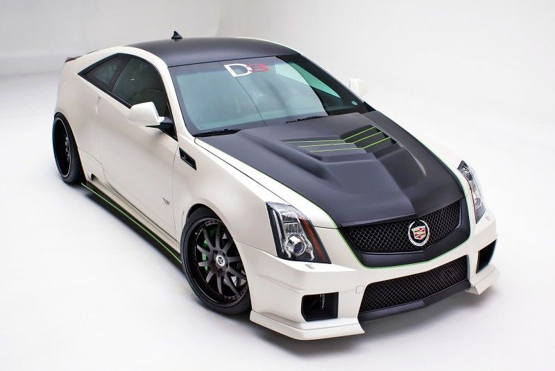 Liking the flat black with green accents - The Legionnaire by D3 | D3 Cadillac Performance Parts