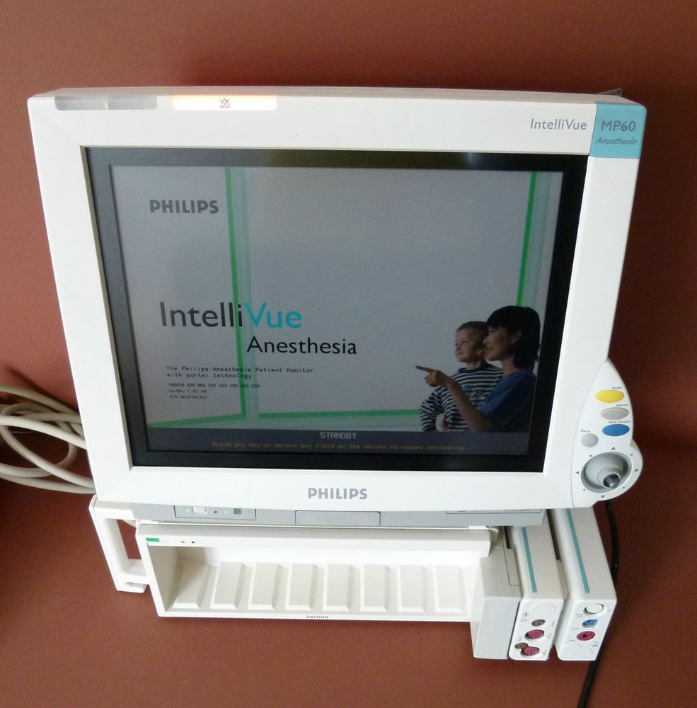 Philips IntelliVue MP60 Patient Monitor Anesthesia ECG