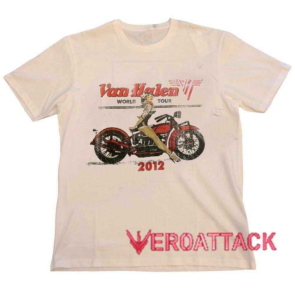 Van Halen World Tour 2012 New Cream T Shirt Size S M L Xl 2xl 3xl Cream T Shirts Shirts Shirt Size