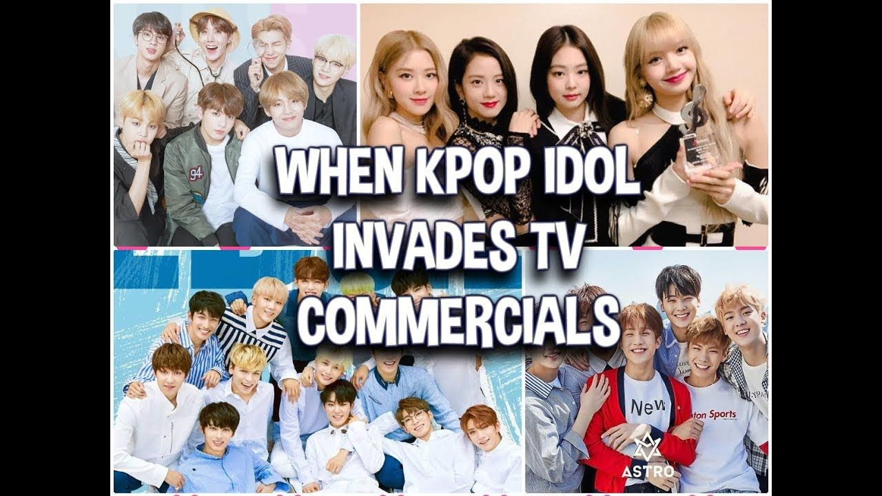 When Kpop Idol Invades Tv Commercials Bts Blackpink Seventeen Exo Tv Commercials Kpop Idol Kpop