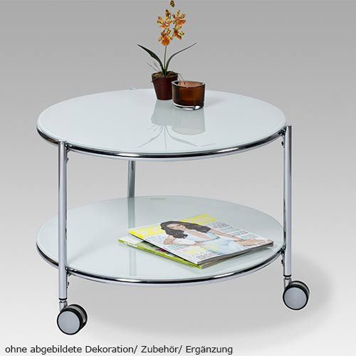 18198 Tisch Beistelltisch Glastisch Glas Couchtisch Rollen Neu Ebay