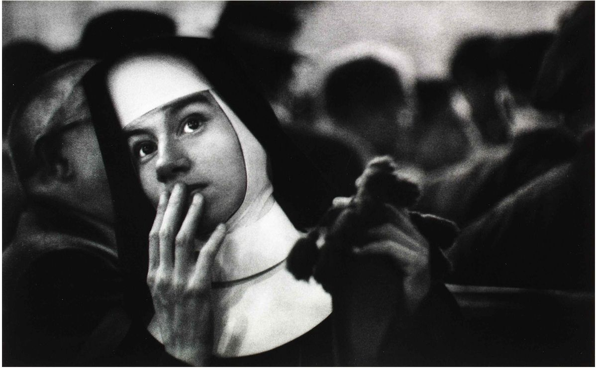 W. Eugene Smith, Nun waiting for survivors of the Andrea Doria, New York City Harbor, 1956