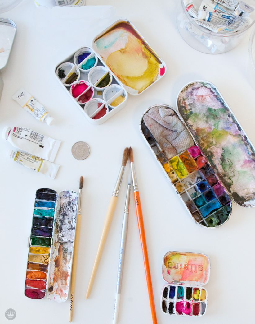 Make Your Own Diy Mini Paint Palette Watercolor Kit Palette