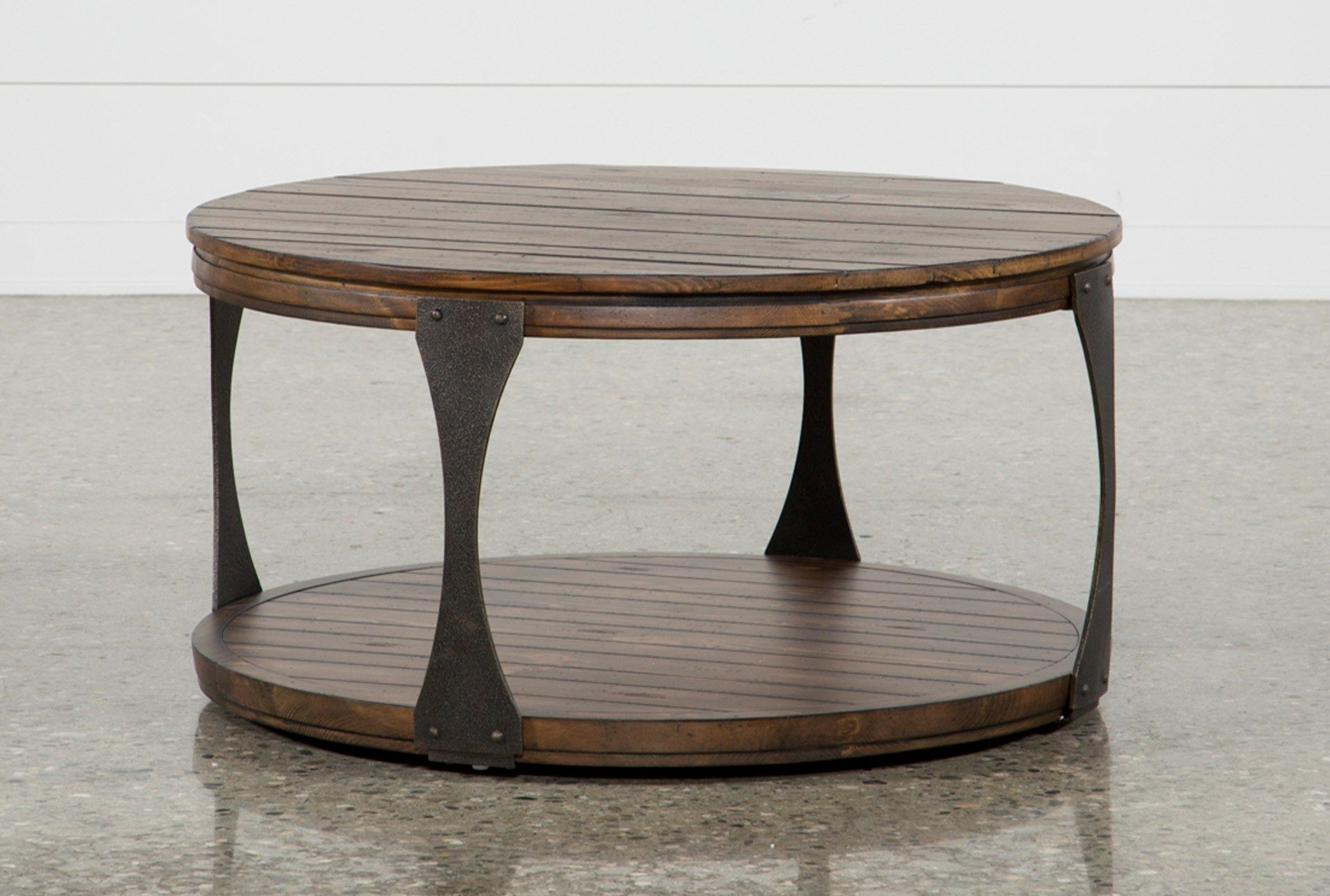 Round Coffee Table Living Spaces 4