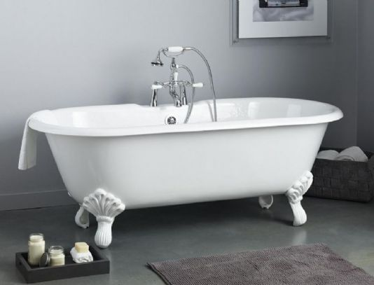 Cheviot 2170 Regal Cast Iron Bath With Shaughnessy Feet And Flat