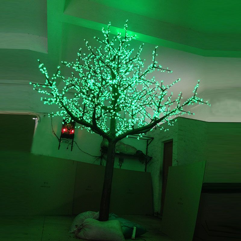 3 5meter 3360leds Red Green Yellow 3color Changing Artificial Blue Cherry Blossom Tree Light For Holiday Lights Outdoor Christmas Decorations Outdoor Christmas