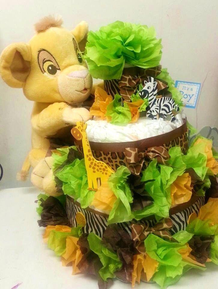 Lion Themed Babyshower For A Girl  Lion King Theme Diaper