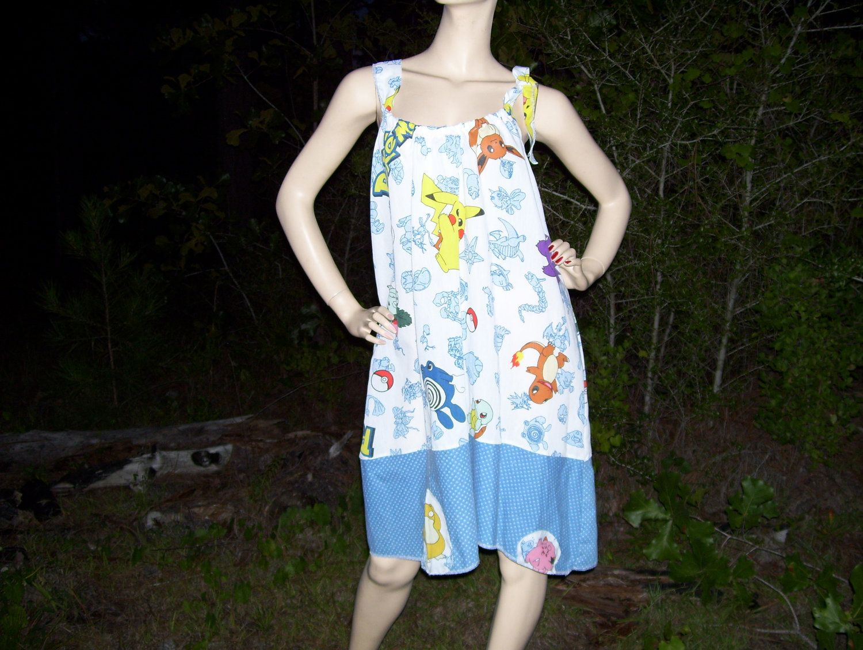 Pokemon Sundress M L XL  Pokemon Picachu Jiggly Puff Maternity Dress. $52.00, via Etsy.