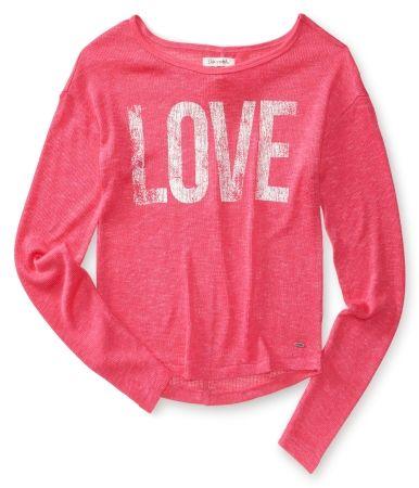 98e61d9a1a Aéropostale Love Knit Crew Sweater