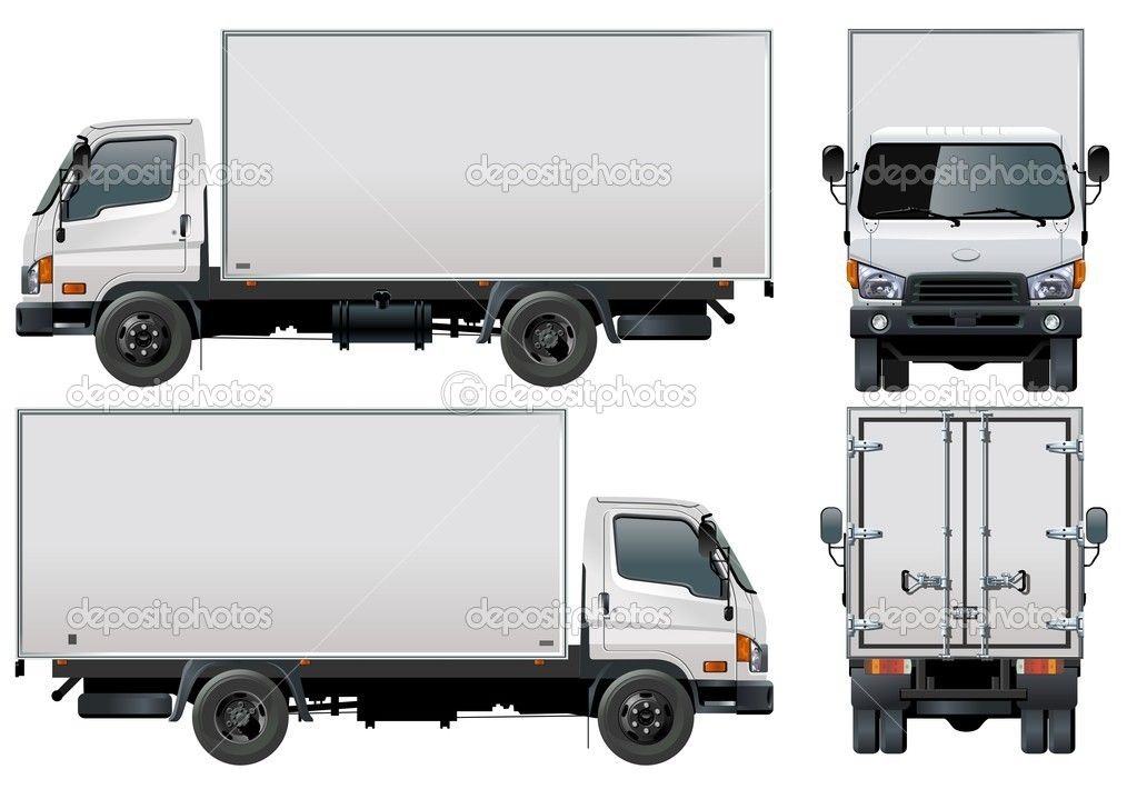 delivery truck vector -#main