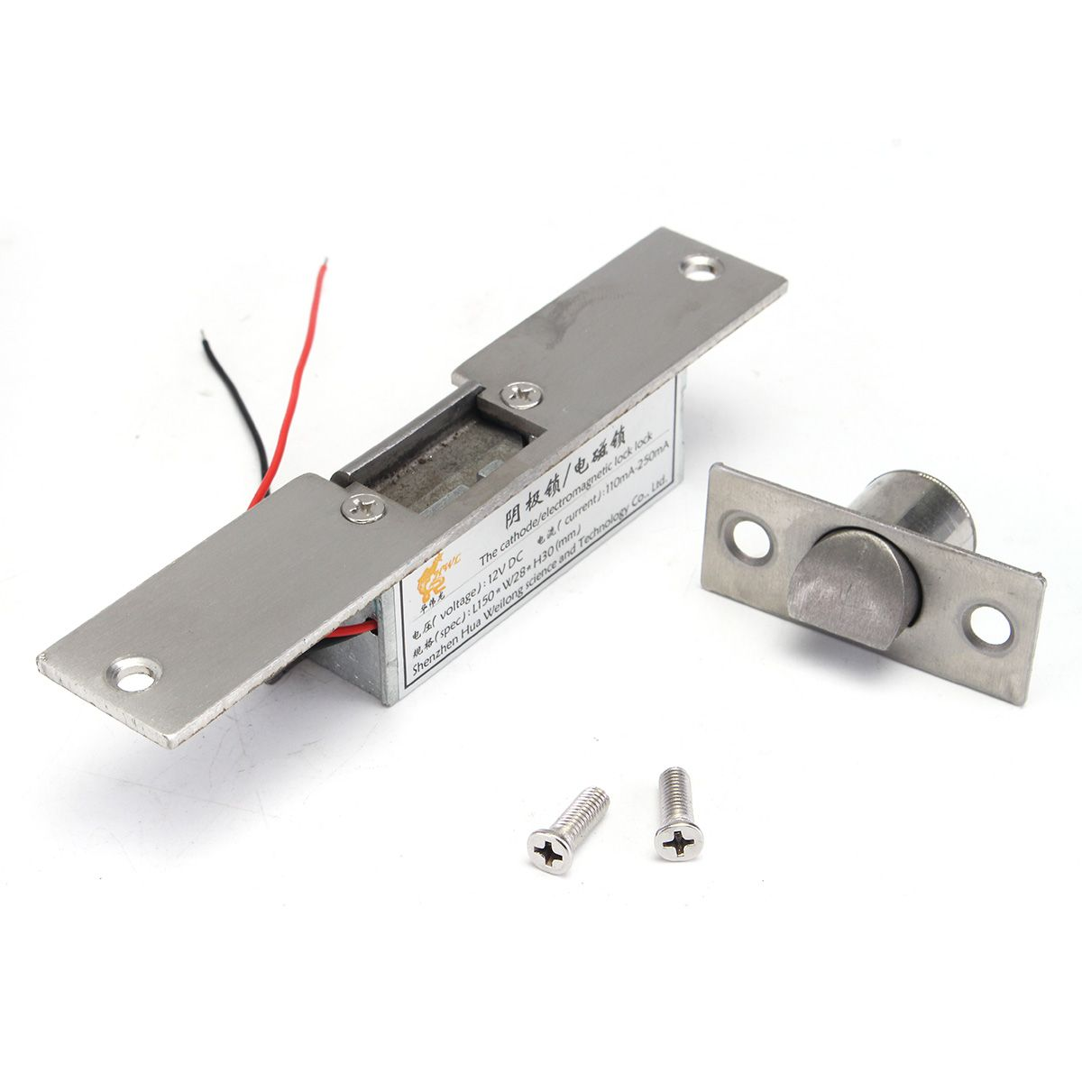 Nieuwe Safurance 12 V Fail Safe Nc Kathode Elektrische Strike Lock Voor Toegangscontrole Hout Metalen Deur Home Security Metal Door