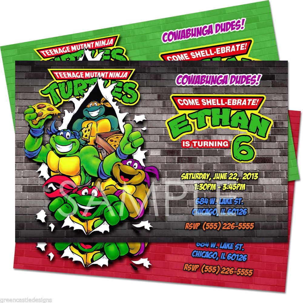 Diy teenage mutant ninja turtles invitations teenage mutant ninja diy teenage mutant ninja turtles invitations teenage mutant ninja turtles solutioingenieria Images