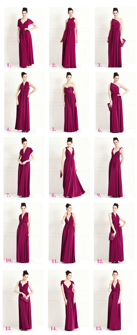 Pink multiway bridesmaid dress  Pin by bimbaorbowie on trajes boda  Pinterest  Maxi dress styles