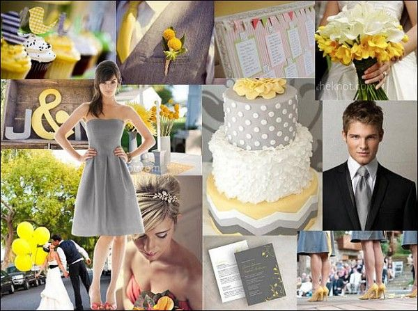 I M Kind Of Digging The Gray And Yellow March Weddingseco Wedding Ideaswedding